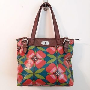 FOSSIL Key Per Tote Bag Flowers